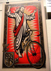 I think this was definately one of my favorite poster. The only reason I didn&#146t buy it was because I though it might be weird having a picture of Jesus on my wall, even if he was riding a bicycle.