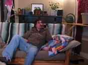 Me on my couch. drinking beer and doing nothing else!