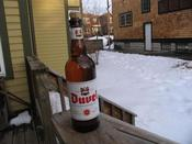 I was so inspired by our beautiful March day that was melting all of the snow, I decided to take a photo of my beer outside.