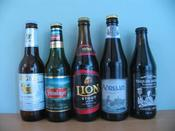 Singha, Steinlager, Lion Stout, Adriaan and Traquair