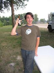 Here&#146s me at the drive-in drinking the Old Engine Oil beer. this was some pretty damn good stuff!
