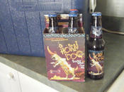 the four pack of horn dog barley wine I picked up with Ryan&#146s generous contribution to my cause.