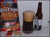 My dinner consisted of a bag of rice chips, one christmas cookie, and a homebrewed beer.