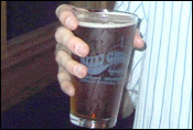 The pint of Capital Amber that Chris bought for me at the Nitty Gritty