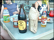 a big ol&#146 bottle of Sheaf Stout, the one in the paper bag is mine ;)