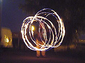 Me doing a little firedancing after dark. This is a great photo taken with a long shutter speed.